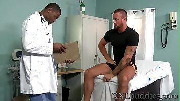 Bear sucks black doctors long dong